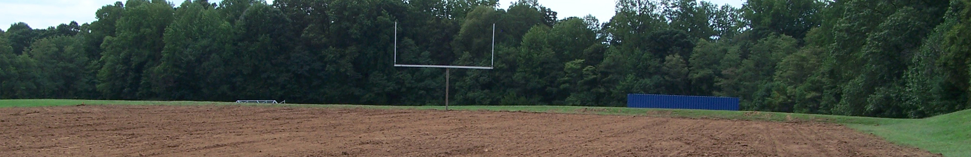 Repaired athletic field.