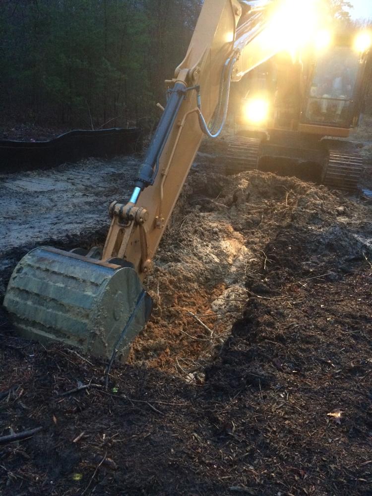 Beginning structural foundation excavation.