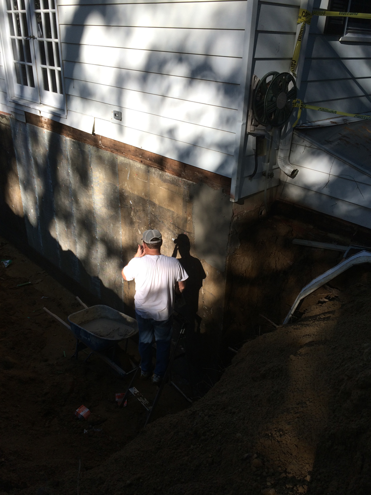 Assessing foundation repair.